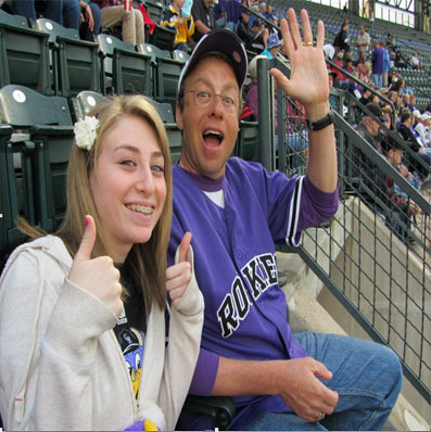 Ultimate Strat Baseball Newsletter, GUSSOMO Commissioner Jeff Fleischman with his daughter